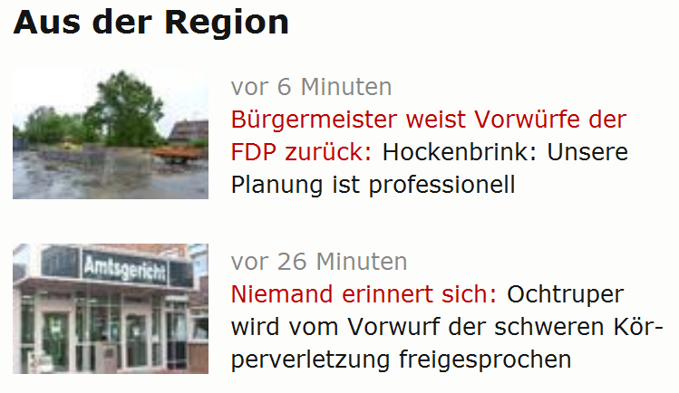 Screenshot eines Ausschnitts von WN.de auf einem Retina Display (Quelle: Eigene Aufnahme)