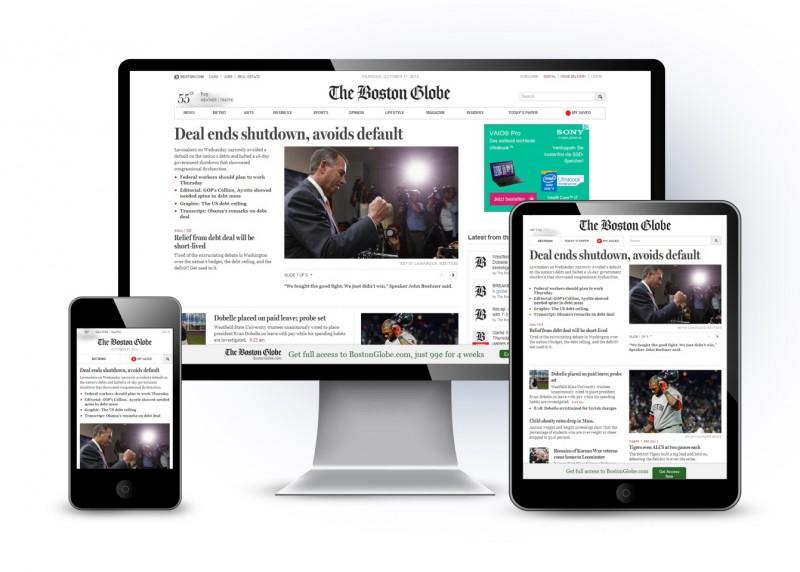 BostonGlobe.com auf verschiedenen Endgeräten (Nair 2013)